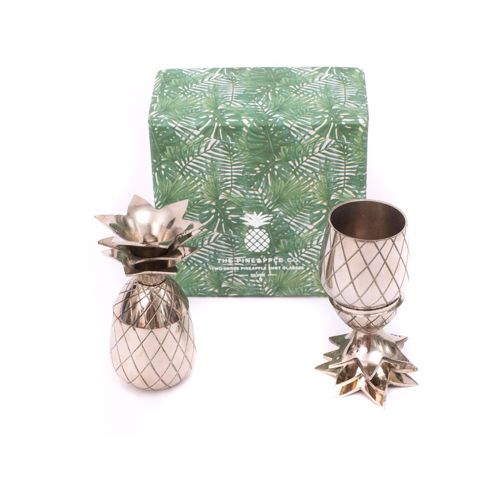 the pineapple shot 2 oz silber ananas silber deko fabricativ. Black Bedroom Furniture Sets. Home Design Ideas